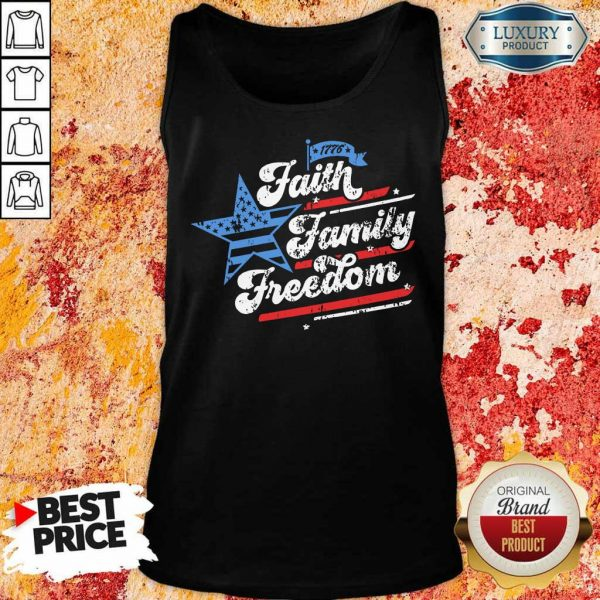 Patriotic Mom Faith Family Freedom Quote Fourth Of July 4th Tank Top