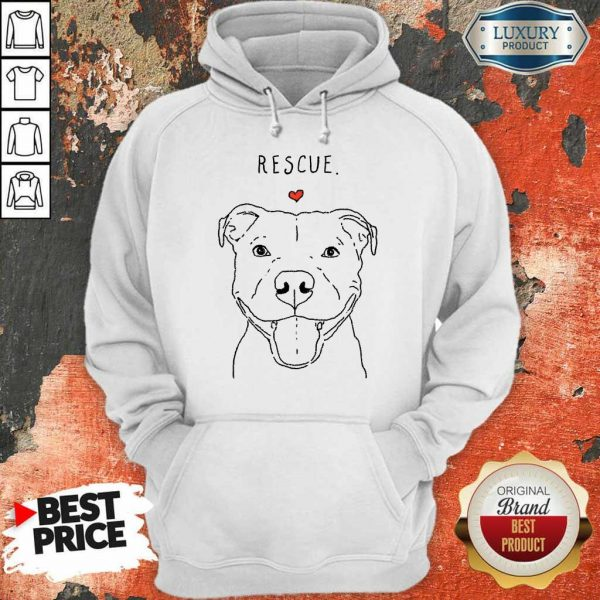 Rescue Love Smiling Pit Bull Dog Lover Hoodie