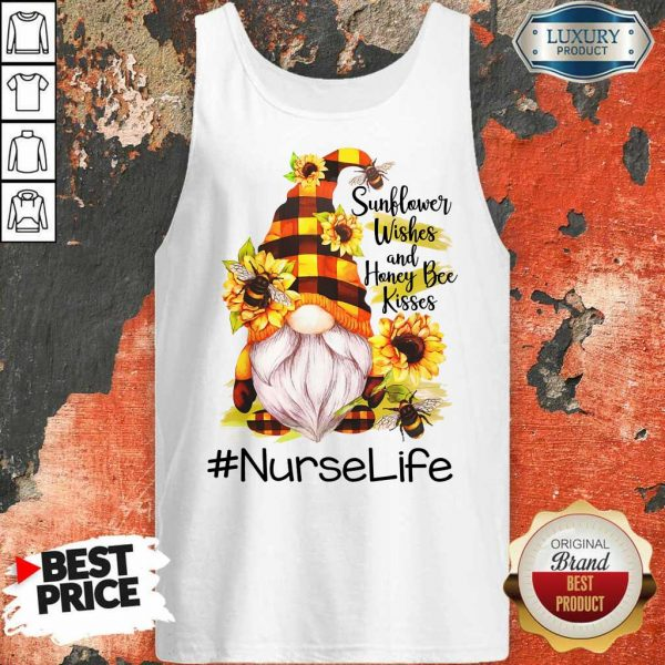 Sunflower Wished And Honey Bee Kisses Nurse Life Tank Top