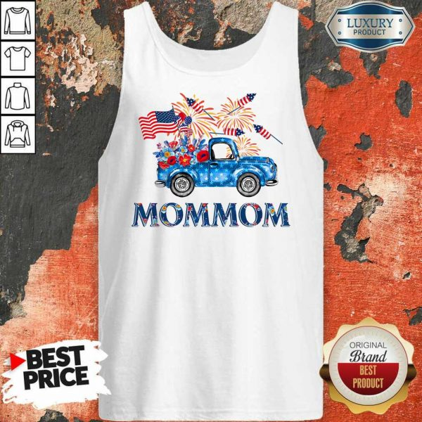 Truck Mommom 4th Of July American Flag Tank Top